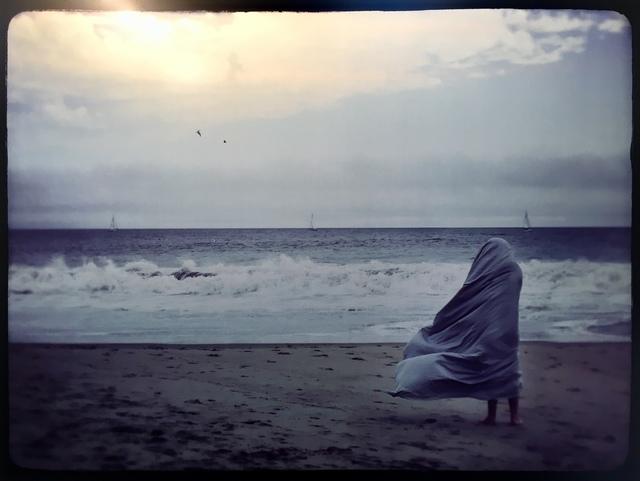 , 'Sheeted Figure Sailing at the Beach,' 2017, JAYJAY
