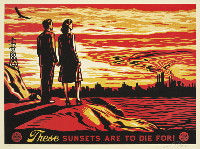 Shepard Fairey (OBEY), 'Sunsets To Die For', 2007, Heather James Fine Art Gallery Auction