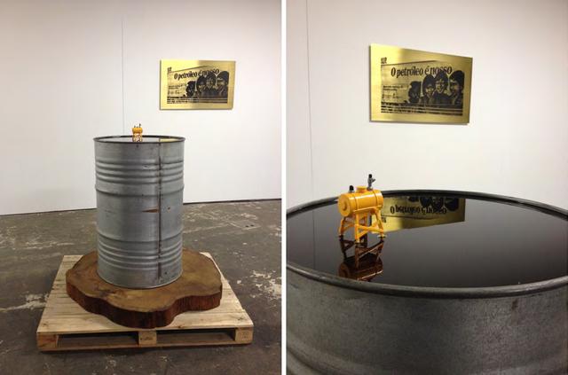 , 'O petróleo era nosso, ou - é tudo ideologia, estupido! (desde 1950) ,' 2013-2014, Galeria Luisa Strina