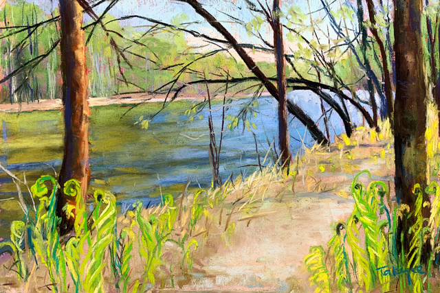 Takeyce Walter, 'Day 8: Early Spring on the Boquet River', February 2020, Painting, Pastels, Keene Arts