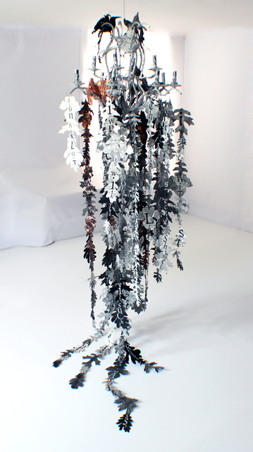 Lesley Dill, 'Bird and Leaf Chandelier', 2014, Nohra Haime Gallery