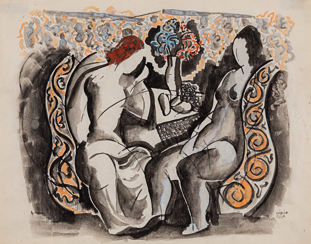 Bela Kadar, 'Two Figures', Rosenberg & Co.