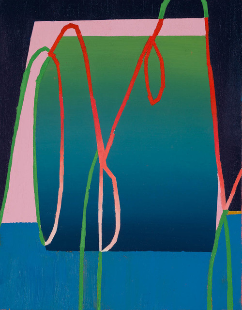 Morgan Ward, '3539 UP', 2018, Painting, Oil and acrylic wash on canvas and board, Candida Stevens Gallery