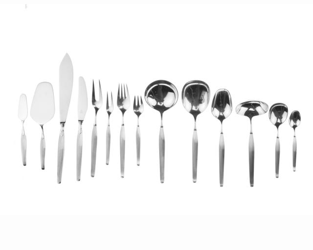 'A Frigast Savoy sterling silver flatware service', Design/Decorative Art, John Moran Auctioneers