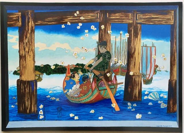 Ralph Allen Massey, 'Popcorn Viewing (after Kunisada)', 2017, bG Gallery