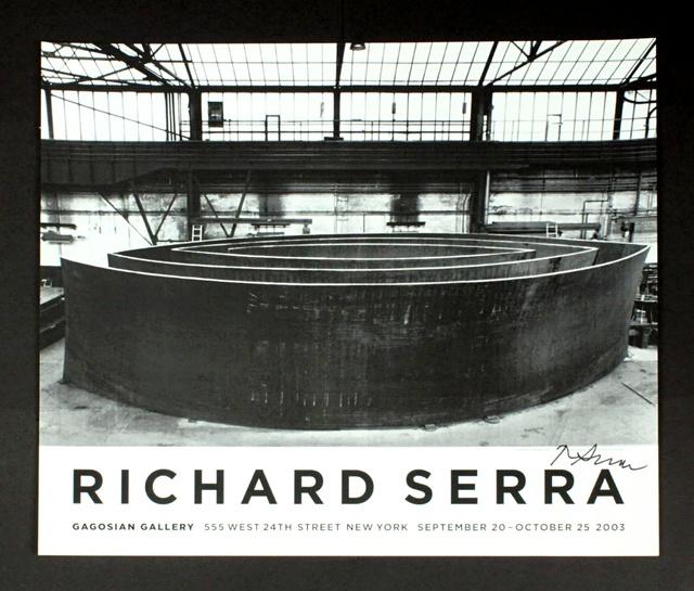 Richard Serra, 'Wake Blindspot Catwalk Vice-Versa (Hand Signed)', 2003, Alpha 137 Gallery