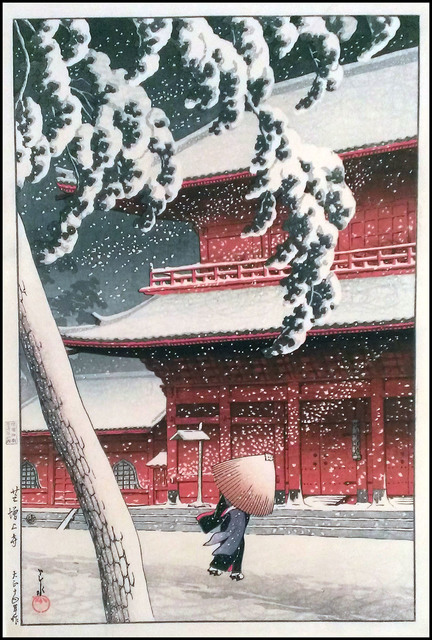 , 'Snow at Zojoji Temple,' 1925, Verne Collection, Inc.