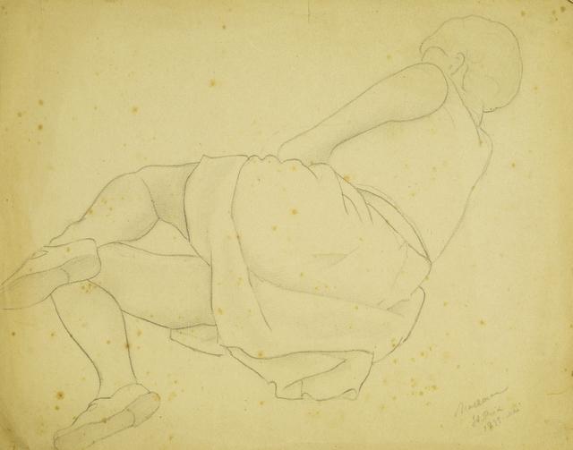 Marie Vorobieff Marevna, 'Femme endormie avec un chat, St Prix, Mai', 1933, Roseberys