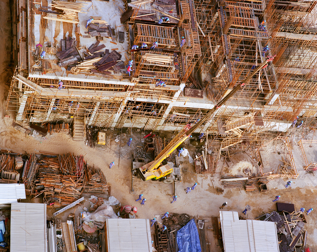, 'Construction Laborers, Sheikh Zayed Road,' 2009, Christopher Grimes Gallery