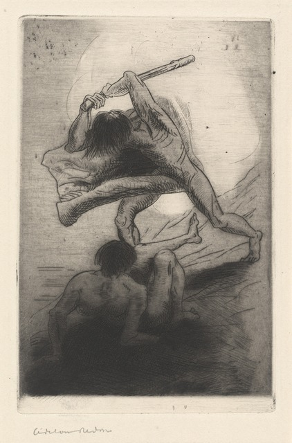 Odilon Redon, 'Cain and Abel', 1886, National Gallery of Art, Washington, D.C.