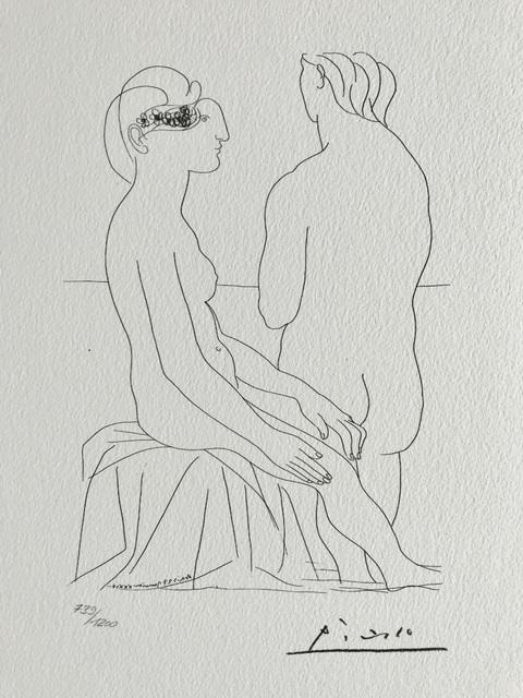 Pablo Picasso, 'Femme assise et femme de dos (Suite Vollard Planche LXXVIII)', 1973, ByNewArt