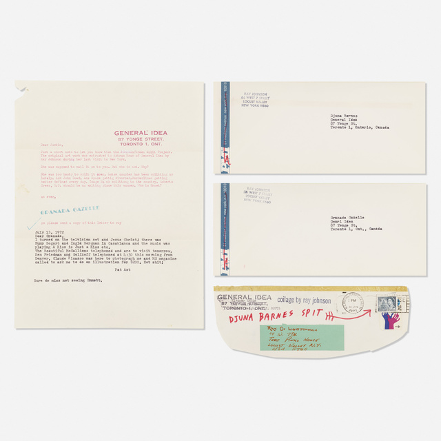 Ray Johnson, 'Untitled (two works)', 1972, Wright