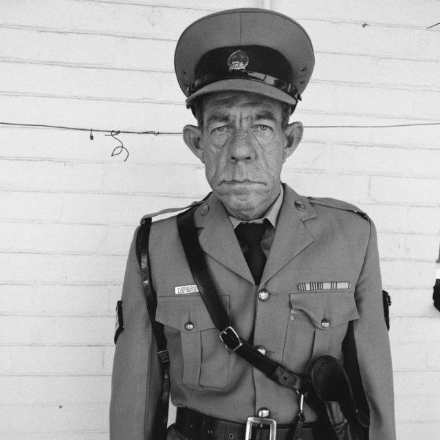 , 'Sergeant F de Bruin (Department of the Prisons Employee),' 1992, CAMERA WORK