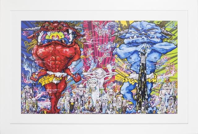 Takashi Murakami, 'Red Demon and Blue Demon with 48 Arhats', 2013, Rudolf Budja Gallery