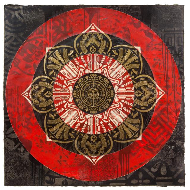 , 'Gun Mandala Target (Black),' 2018, Galerie Ernst Hilger