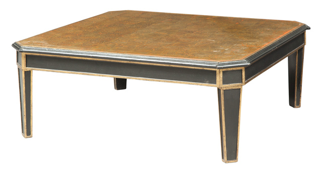 'Maison Jansen Black and Gilt Decorated Églomisé Low Table', Design/Decorative Art, Doyle