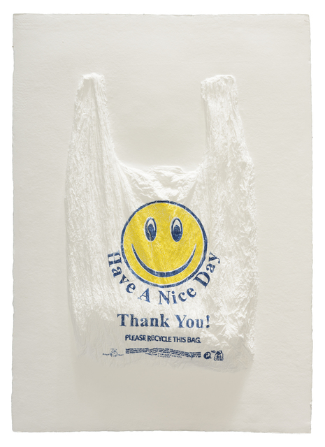 , 'Have a Nice Day, Thank You! Plastic Bag,' 2016, Mixografia