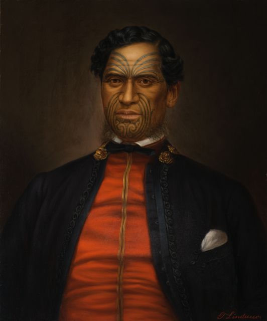 Gottfried Lindauer, 'Major Waata Kukutai', undated, de Young Museum