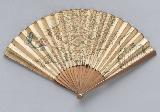 , 'The Ladies Travelling Fan of England and Wales,' 1788, de Young Museum