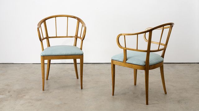 , 'Pair of Chairs,' ca. 1940, Hostler Burrows