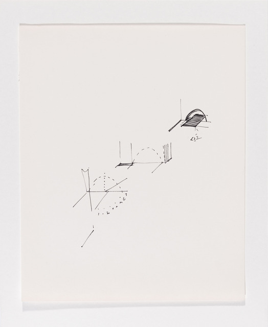 , 'Untitled (schematic drawings, notebook, 24 sheets),' 1974, Galerie Thomas Schulte