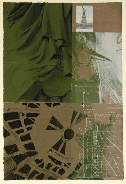 Robert Rauschenberg, 'Statue of Liberty', 1983, Print, Screenprint in colors w/collage, Vertu Fine Art