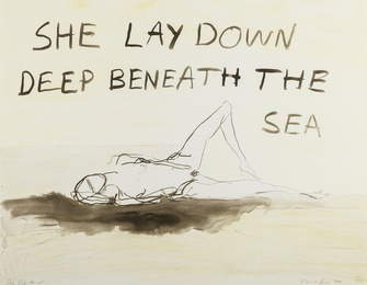 Tracey Emin, 'She lay deep down beneath the sea,' 2011, Forum Auctions: Editions and Works on Paper (March 2017)