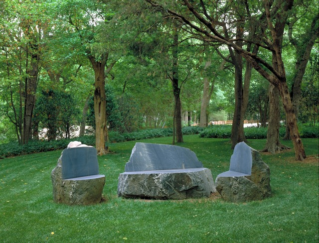 Scott Burton, 'Schist Furniture Group (Settee with Two Chairs)', 1983-1984, Nasher Sculpture Center
