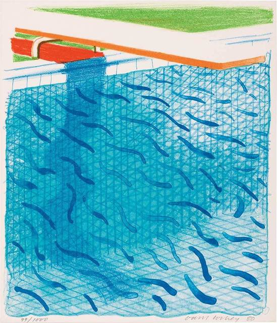 David Hockney, 'Pool Made With Paper And Blue Ink For Book (Tyler Graphics 269; M.C.A.T. 234)', 1980, Doyle