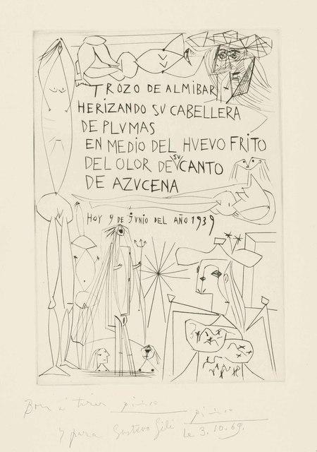 Pablo Picasso, 'Frontispiece, from: El Entierro del Conde de Orgaz', 1939, Christie's