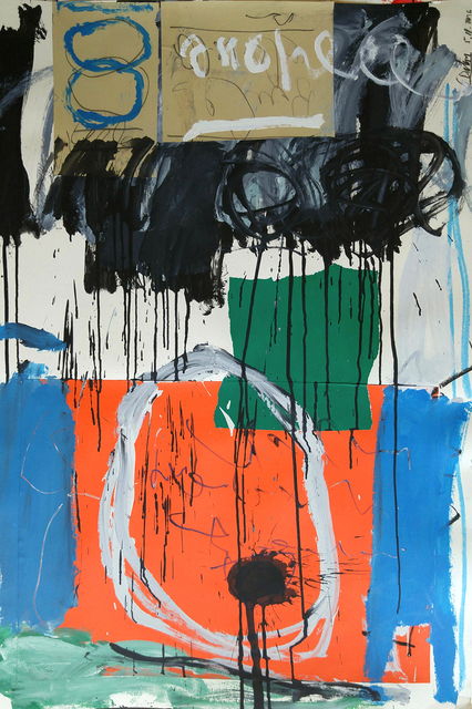 , 'Untitled Abstract with orange and Blue, 47x31,' 2016, ARDT Gallery