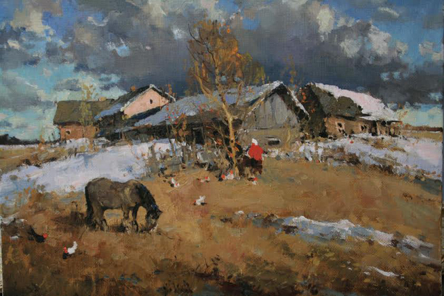 , 'Evening in the Village,' , Abend Gallery