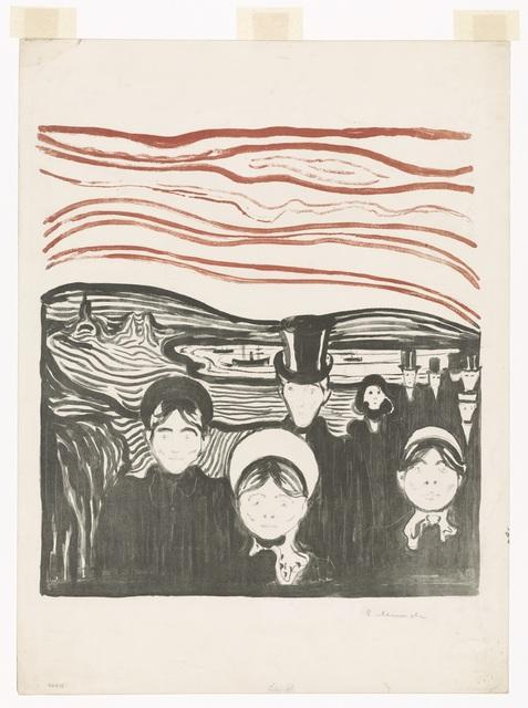 , 'Angst,' 1896, Munch Museum