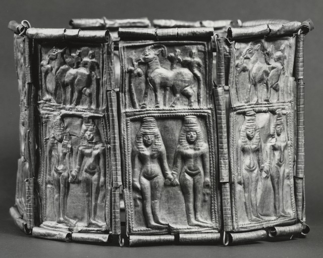 'Crown with Goddesses and Ibexes', 10th-9th century B.C., Walters Art Museum