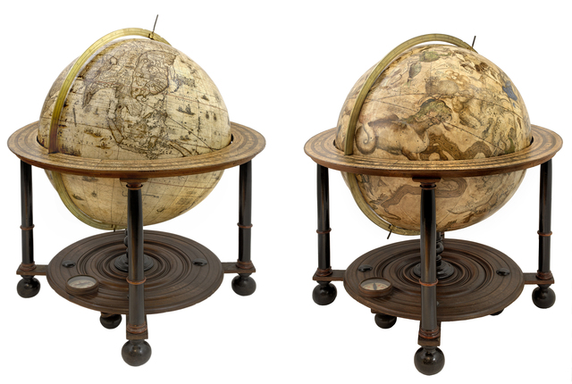 , '[A pair of Globes - Terrestrial and Celestial] Globus Orbis Terrae.,' ca. 1645, Daniel Crouch Rare Books
