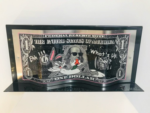 "Alain Mimouni, 'Dollar Bugs Bunny ""What's Up Doc ?""  on metal base', 2019, Design by Jaler"