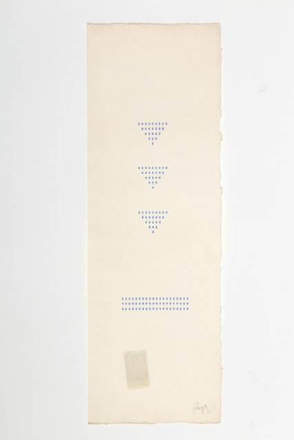 , 'Typecode (vertical),' 1978, Richard Saltoun