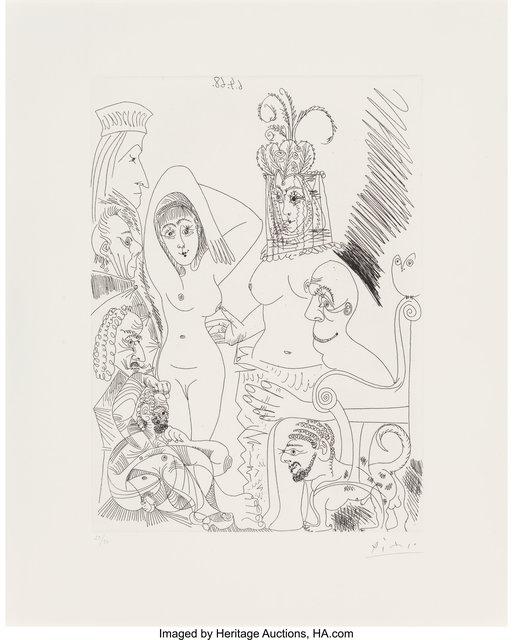 Pablo Picasso, 'Homme barbu songeant à une scène des mille et une nuits, from Séries 347', 1968, Heritage Auctions