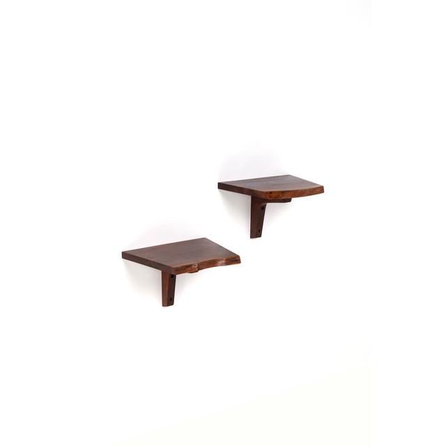 George Nakashima, 'Pair Of Wall Shelves Or Wall Side Tables', 1975, PIASA