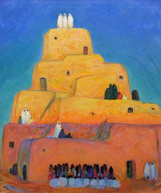 , 'A Pueblo (Taos),' 1919, Addison Rowe Gallery