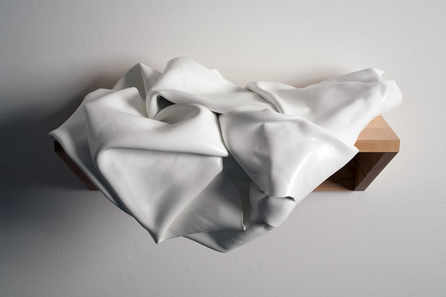 , 'CRUMPLED WHITE PAINTING ON A SHELF,' 2014, Greg Kucera Gallery