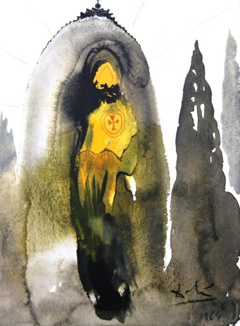 Salvador Dalí, 'Who Will Go Up The Mountain Of The Lord', 1967, Print, Original colored lithograph on heavy rag paper, Baterbys
