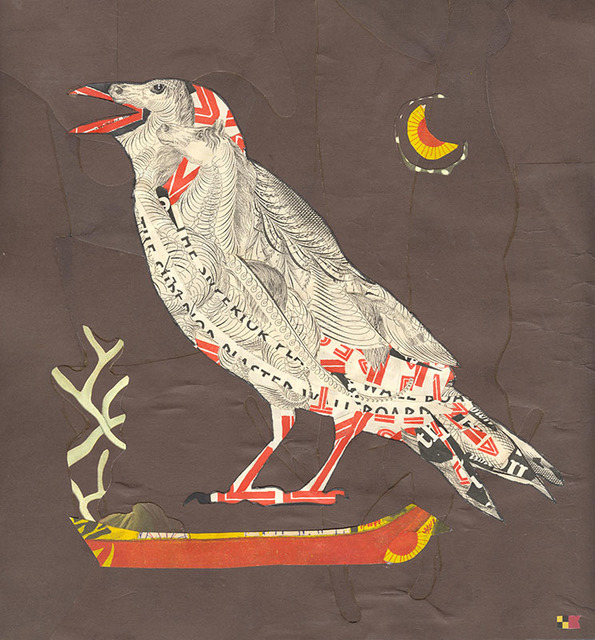 Lou Beach, 'Yore Bird', 2018, Drawing, Collage or other Work on Paper, Collage of printed ephemera, Craig Krull Gallery