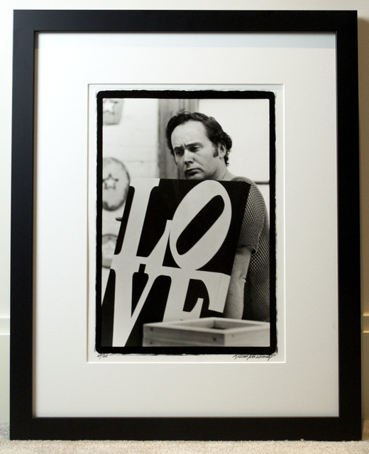 William John Kennedy, 'Robert Indiana with his LOVE', 1963, William John Kennedy Collection