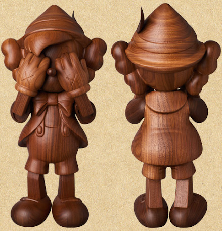 KAWS, 'Pinocchio by Kaws in Wood (by Karimoku)', 2018, Sculpture, Wood, Dope! Gallery