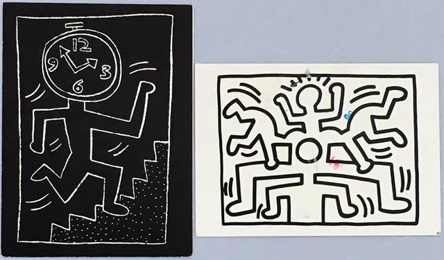 Keith Haring, 'Keith Haring announcement cards (1988 & 1990)', 1988, Lot 180