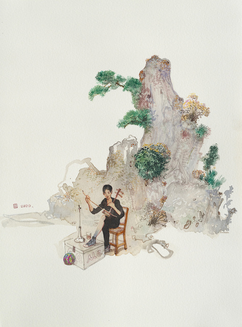 Zhou Jinhua 周金华, 'State of Mind No.2', 2020, Painting, Watercolor on paper, ART LABOR Gallery