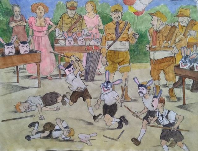 , 'European Politics II,' 2019, The Secret Gallery