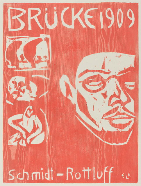 Ernst Ludwig Kirchner, 'Cover of the Fourth Yearbook of the Artist Group the Brucke', 1909, National Gallery of Art, Washington, D.C.