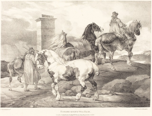 Théodore Géricault, 'Horses Going to a Fair', 1821, National Gallery of Art, Washington, D.C.